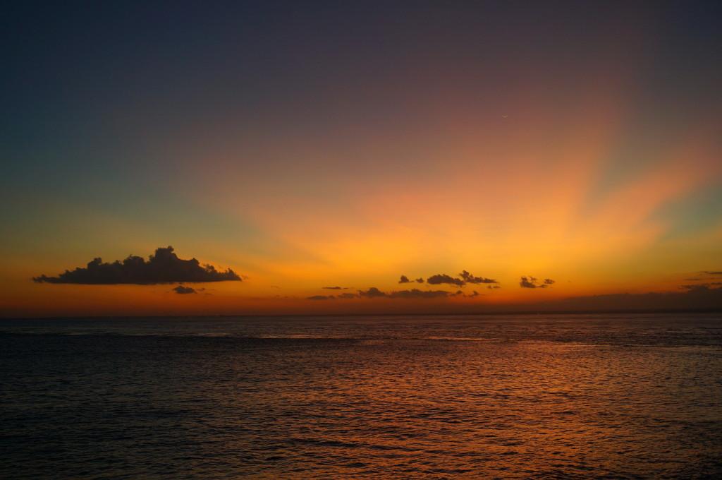 Prachtige zonsondergangen op Nusa Lembongan